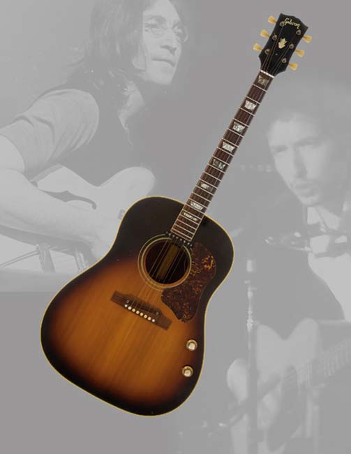 John Lennon Bob Dylan Owned And Played Gibson Guitar Expected To